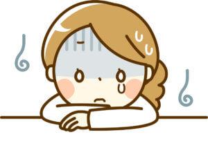 失敗して泣く女性